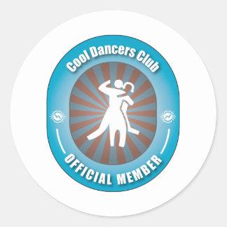 Cool Dancers Club Round Sticker