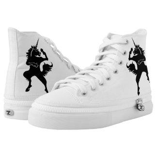 Cool dancing unicorn printed shoes