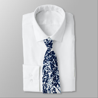 Cool Dark Blue Abstract Pattern Tie