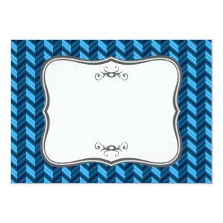 Cool Dark Blue Chevron Card