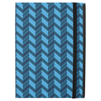 "Cool Dark Blue Chevron iPad Pro 12.9"" Case"