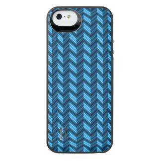 Cool Dark Blue Chevron iPhone SE/5/5s Battery Case