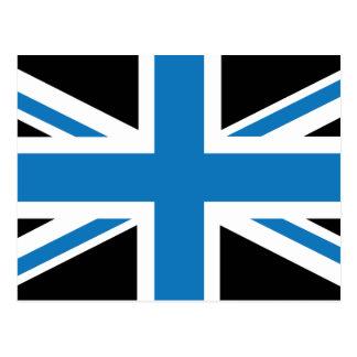 Cool Dark Blue Union Jack British(UK) Flag Postcard