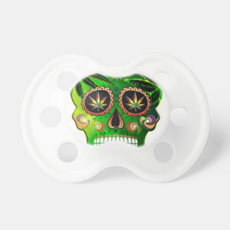 Cool Day of the Dead Sugar Skull Weed Pacifier