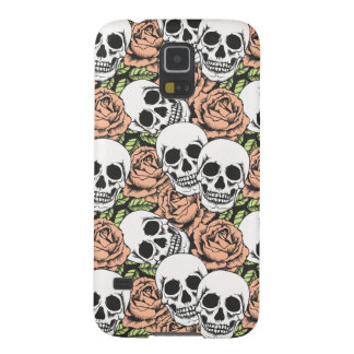 cool death skull and rose Samsung S5 phone case