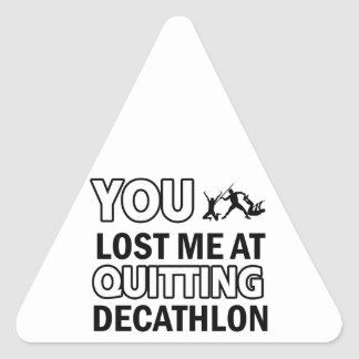 Cool decathlon designs triangle sticker