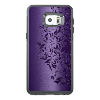 Cool Deep Purple Background & Floral Lace