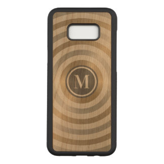 Cool Designer Metal Stripe Pattern Grey Monogram Carved Samsung Galaxy S8+ Case