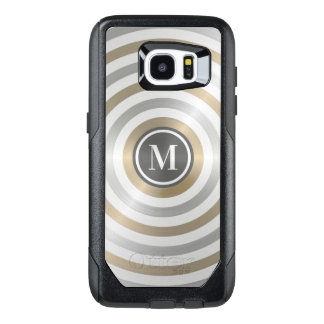 Cool Designer Metal Stripe Pattern Grey Monogram OtterBox Samsung Galaxy S7 Edge Case