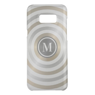 Cool Designer Metal Stripe Pattern Grey Monogram Uncommon Samsung Galaxy S8 Plus Case