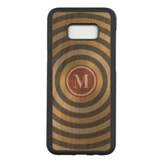 Cool Designer Silver Gold Stripe Pattern Monogram Carved Samsung Galaxy S8+ Case