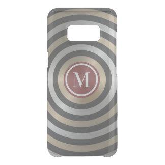 Cool Designer Silver Gold Stripe Pattern Monogram Uncommon Samsung Galaxy S8 Case