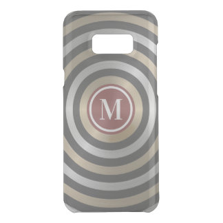 Cool Designer Silver Gold Stripe Pattern Monogram Uncommon Samsung Galaxy S8 Plus Case