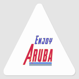 Cool Designs For Aruba Triangle Sticker
