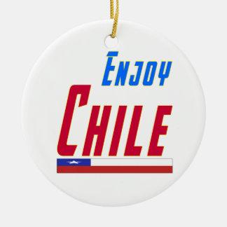 Cool Designs For Chile Round Ceramic Decoration