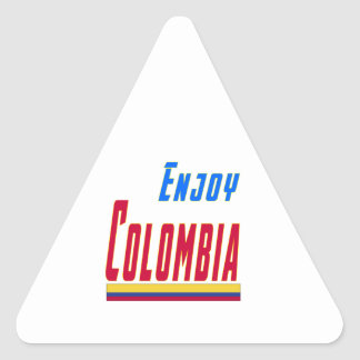 Cool Designs For Colombia Triangle Sticker