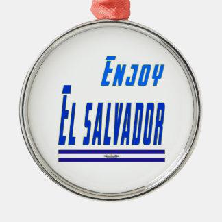Cool Designs For El Salvador Silver-Colored Round Decoration