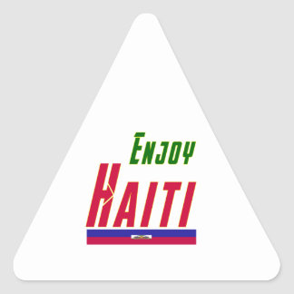 Cool Designs For Haiti Triangle Sticker