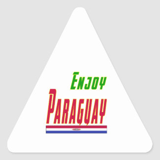 Cool Designs For Paraguay Triangle Sticker
