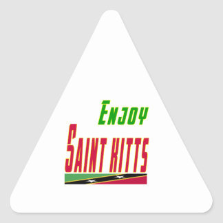 Cool Designs For Saint Kitts Triangle Sticker