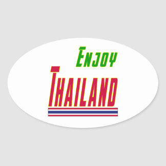 Cool Designs For Thailand Oval Sticker