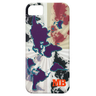 cool different world map barely there iPhone 5 case
