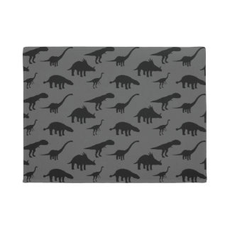 Cool Dino Dinosaurs Silhouettes Doormat