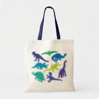 Cool Dinosaur Bag - Purple, Green & Blue
