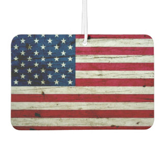Cool Distressed American Flag Wood Rustic Car Air Freshener