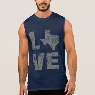 Cool Distressed For The Love of Texas Sleeveless Shirt