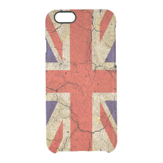 Cool Distressed Union Jack English Flag Clear iPhone 6/6S Case