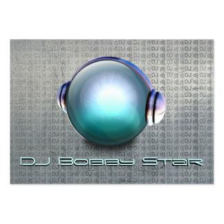 Cool dj 3D orb logo metalic business card