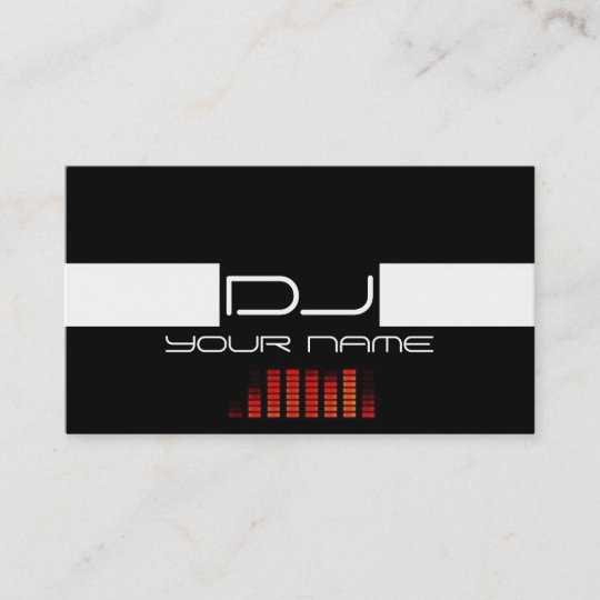 cool dj business card  zazzleau
