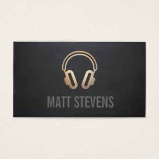 Cool DJ Gold Headphones Black Music Business Card