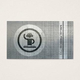 Cool dj logo metal tekst business card
