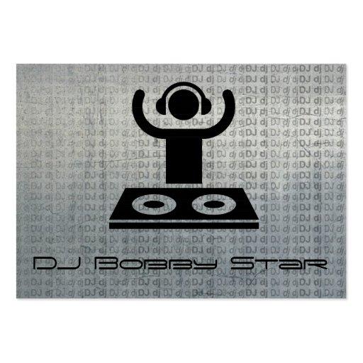 Cool dj logo metalic business card