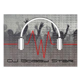 Cool dj metalic business card
