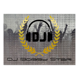 Cool dj metalic business card with logo.