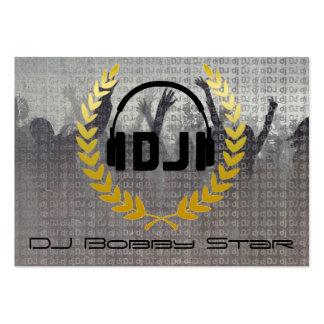 Cool dj metalic business card with logo