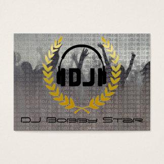 Cool dj metalic business card with logo.