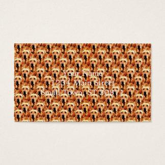 Cool Dog Art Doggie Golden Retriever Abstract Business Card