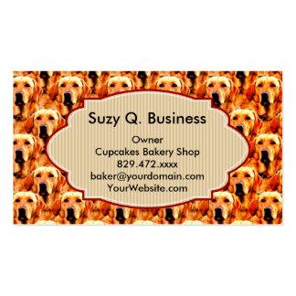 Cool Dog Art Doggie Golden  Retriever Abstract Pack Of Standard Business Cards