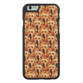 Cool Dog Art Doggie Golden Retriever Abstract Carved® Maple iPhone 6 Case