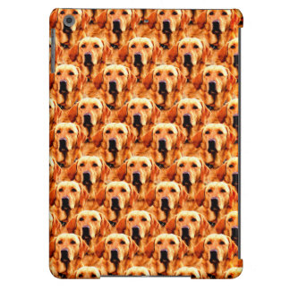 Cool Dog Art Doggie Golden  Retriever Abstract Cover For iPad Air