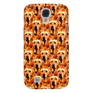 Cool Dog Art Doggie Golden  Retriever Abstract Galaxy S4 Covers