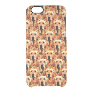 Cool Dog Art Doggie Golden Retriever Abstract Clear iPhone 6/6S Case