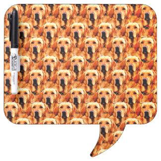 Cool Dog Art Doggie Golden  Retriever Abstract Dry-Erase Board