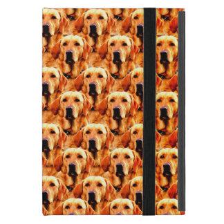 Cool Dog Art Doggie Golden  Retriever Abstract iPad Mini Cases