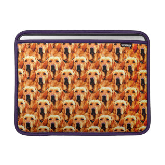 Cool Dog Art Doggie Golden  Retriever Abstract Sleeves For MacBook Air