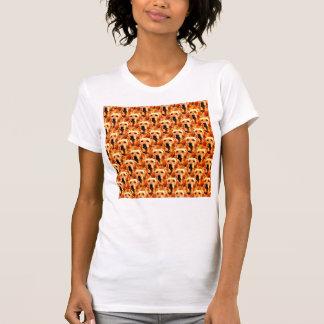 Cool Dog Art Doggie Golden  Retriever Abstract Mos Tee Shirt